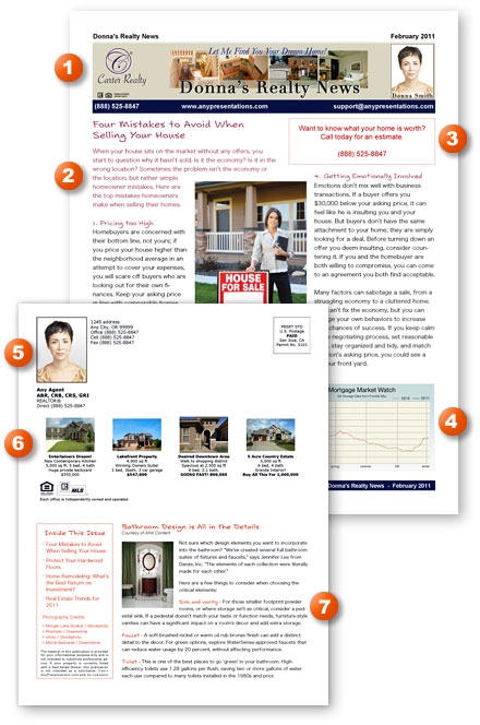 Print Real Estate Newsletter  Any Presentations